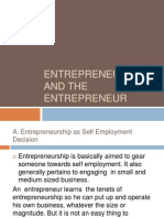 1.1Entrepreneurship and the Entrepreneur