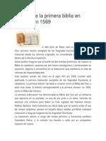 Historia de La Biblia Española