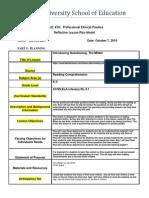 reflective lesson plan model - 450 - revised 20132edu 328 1