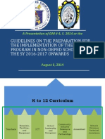 Guidelines on the Preparation for the Implementation of the SHS Program