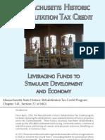 Massachusetts Historic Rehabilitation Tax Credit Program