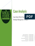 Strategy Analysis - Whole Foods