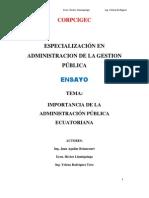 IMPORTANCIA DE LA ADMINISTRACION PUBLICA
