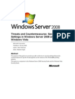 Threats and Countermeasures Server 2008