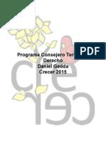 Programa Consejero Territorial Derecho - Daniel Gedda