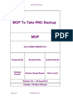MOP for RNC Backup_Revised