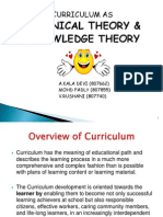 Curriculum as Technical Theory n Knowledge Theory