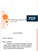 3 main religions of europe