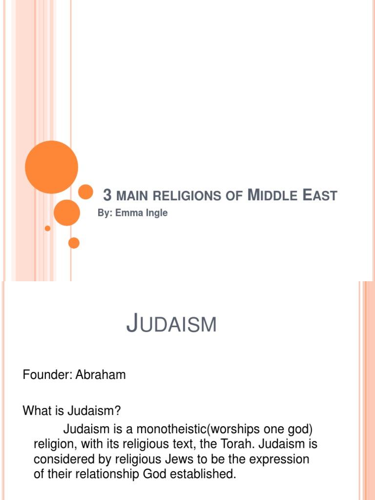 Main Religions Of Europe Torah Monotheism - Main religions