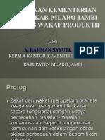 Materi Kebijakan Kemenag TJT tentang Zakat dan Wakaf.ppt