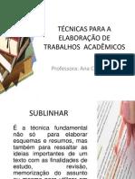 Técnicas Para a Elaboração de Trabalhos Acadêmicos (1) (1)