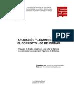 Aplicación T-Learning para el Correcto Uso de Idiomas