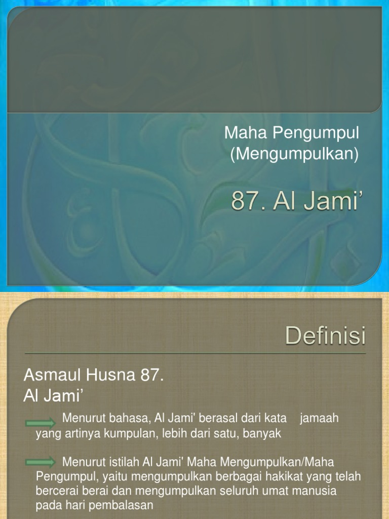 Ercipsai Blog Archive Makalah Asmaul Husna Al Matin