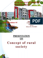 Concept of Rural Society