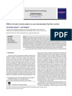 Effects of Anti-Vortex Plates on Air Entrainment by Free Vortex