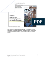 Lateral Load Resisting Systems for Wood Structures (DES130_AWC08)
