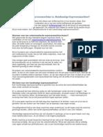 Volautomatische Espressomachine vs. Handmatige Espressomachine