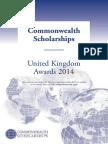 Prospectus Scholarships 2014 Commonwealth Scholarship