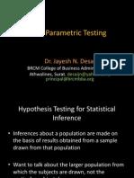 Non Parametric Testing