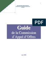 Guide pour la Commission d'Appel d'Offres