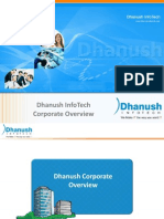 Dhanush Infotech Corporate Presentation