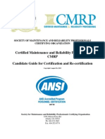 CMRP Candidate Guide for Certification and Recertification 8 26 2013(2)