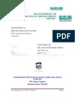 A Swot Analysis of Suzlon Energy Ltd.