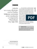 La nueva relacion del Estado Mexicanocon los pueblos indigenas  sustentada en la constotucion y composicion pluricultural_hoy siglo XXI_Hernan Cruz_J_L_.pdf