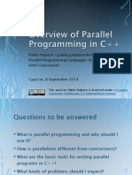 Overview of Parallel Programming in C++ - Pablo Halpern - CppCon 2014