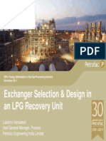 Exchanger Selection & Design in an LPG Recovery Unit (1) (1)
