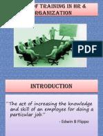 role of training inhrorganization