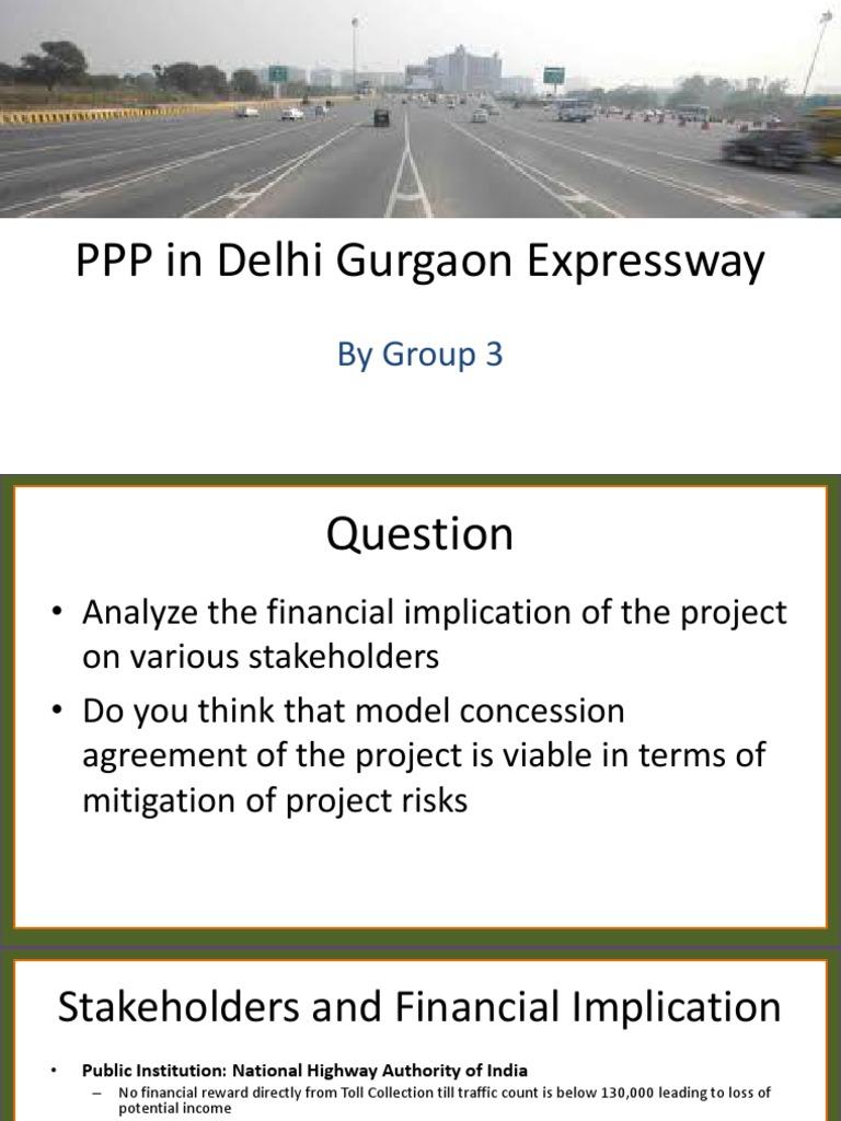 Ppp In Delhi Gurgaon Expresswaygroup 3pptx Publicprivate