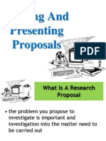 Writing and Presenting Proposals