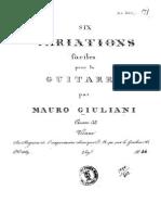 Op 32 Six Variations Mauro Guiliani