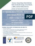 Veterans Resource Clinic Flier