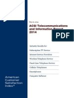 ACSI Telecommunications and Information Report 2014