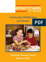 Fosnot C.T. Dolk M. Young Mathematicians at Work. Constructing Multiplication and Division