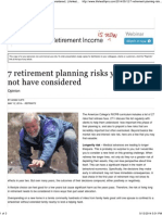 7 Retirement Planning Risks You May Not Have Considered _ LifeHealthPro