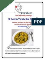 Penmai Recipes eBook - 40 Yummy Variety Rice Recipes PDF