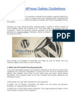 Top 7 WordPress Safety Guidelines