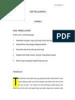 Unit Pelajaran 2 Fungsi I