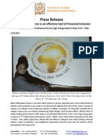 Press Release on Logo Inauguration of 4th Global Islamic Microfinance Forum in New York - USA (English)