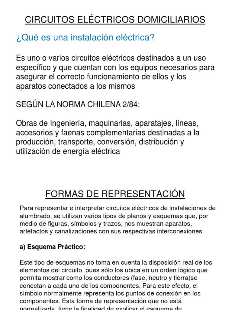 Circuito Unilineal : Circuitos de alumbrado.ppt