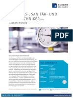 Datenblatt Heizungs-, Sanitär- und Klimatechniker