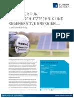 Datenblatt Techniker für Umweltschutztechnik und regenerative Energien