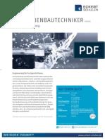 Datenblatt Maschinenbautechniker