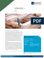 Datenblatt Holztechniker
