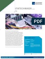 Datenblatt Informatiktechniker