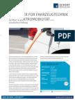 Datenblatt Techniker für Fahrzeugtechnik und Elektromobilität