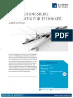 Datenblatt Vorbereitungskurs Mathematik für Techniker
